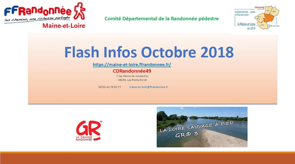 MAINE-ET-LOIRE: Flash Info - Octobre 2018