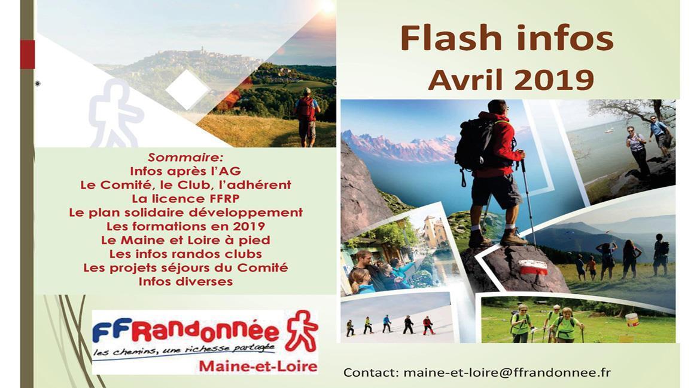 MAINE-ET-LOIRE: Flash Info - Avril 2019