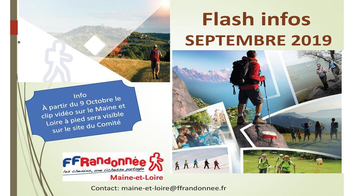 MAINE-ET-LOIRE: Flash Info - Septembre 2019