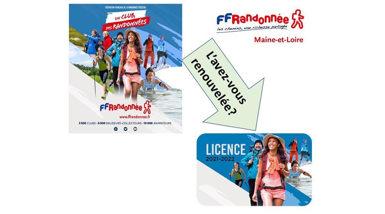 MAINE-ET-LOIRE: Renouveler ma licence FFRandonnée